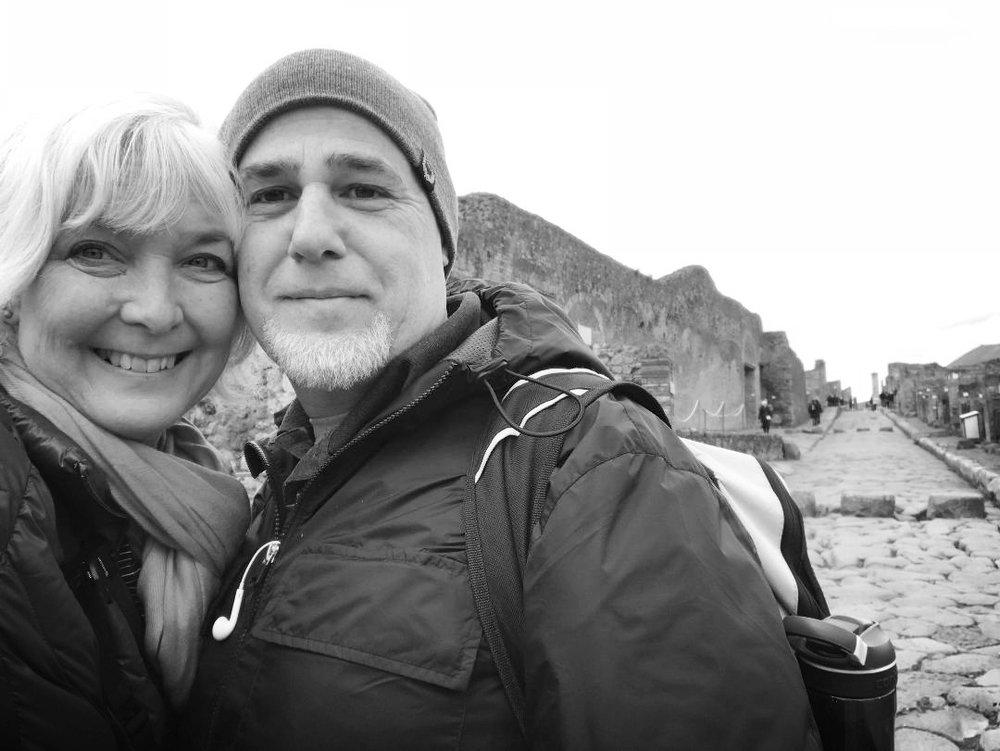 Our selfie at Pompeii