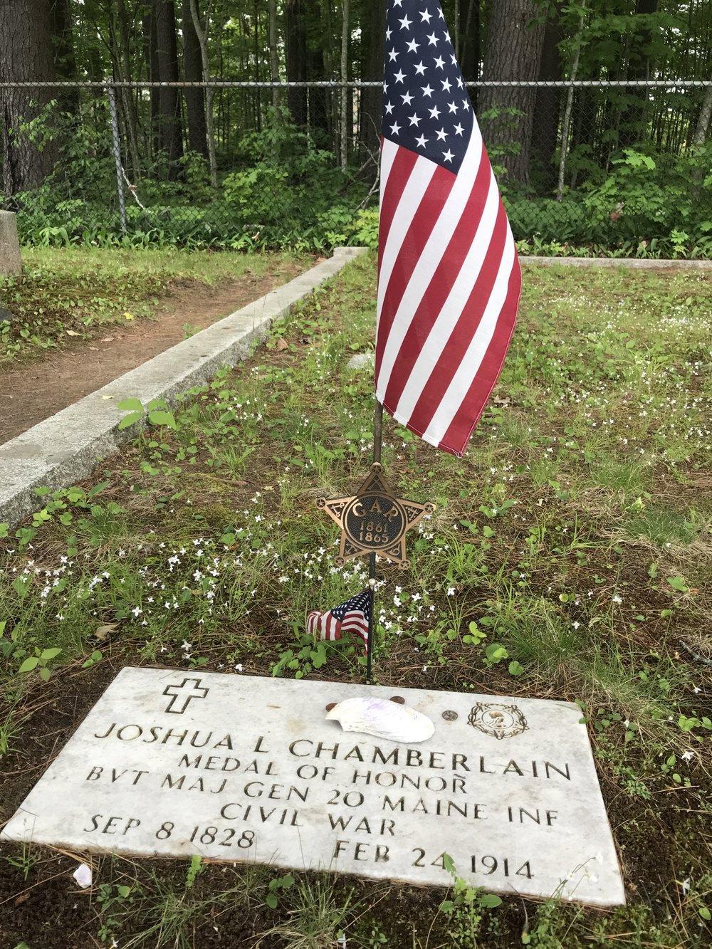 Joshua Chamberlain's grave site Pine Grove Cemetery