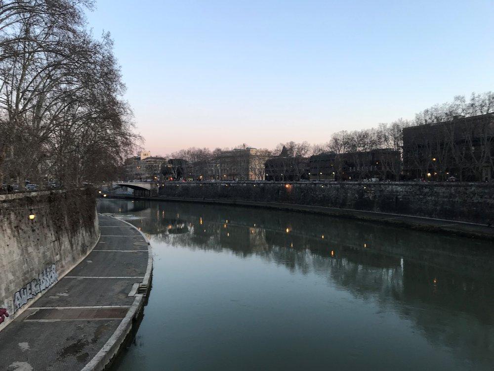 Tiber River in Italy