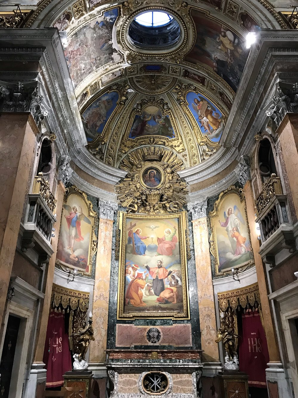 Inside a church in Rome