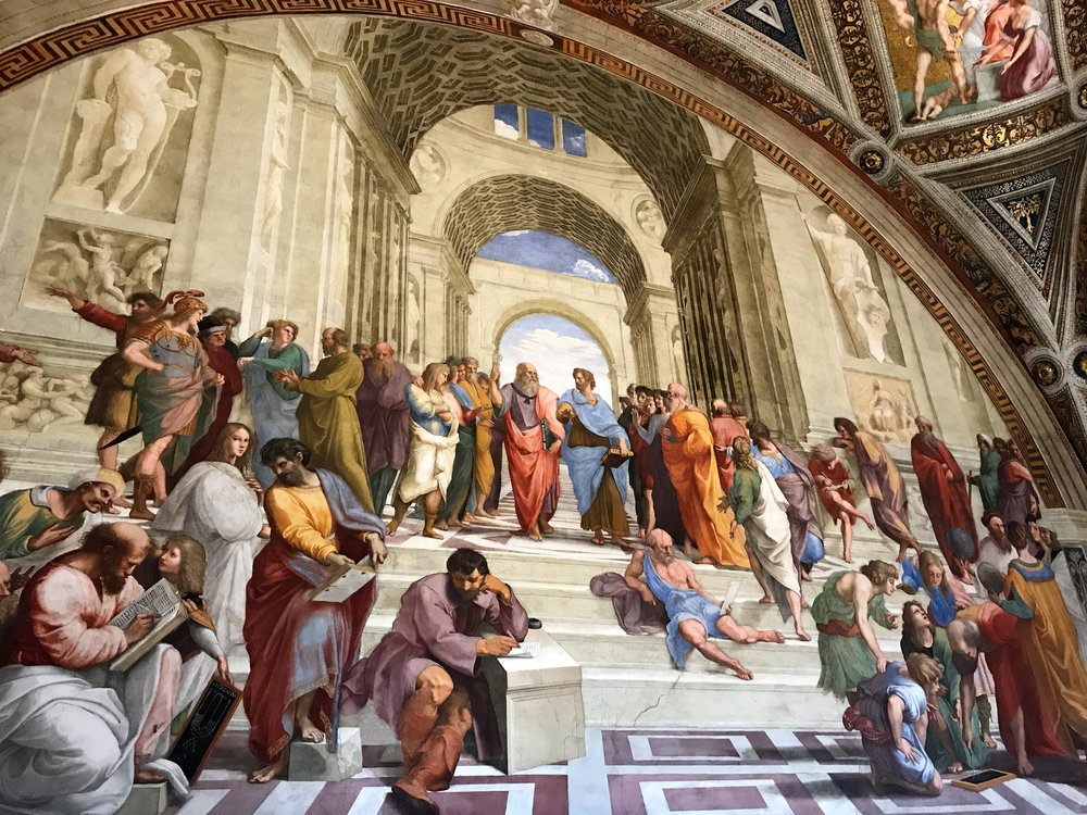 The School of Athens in the Vatican