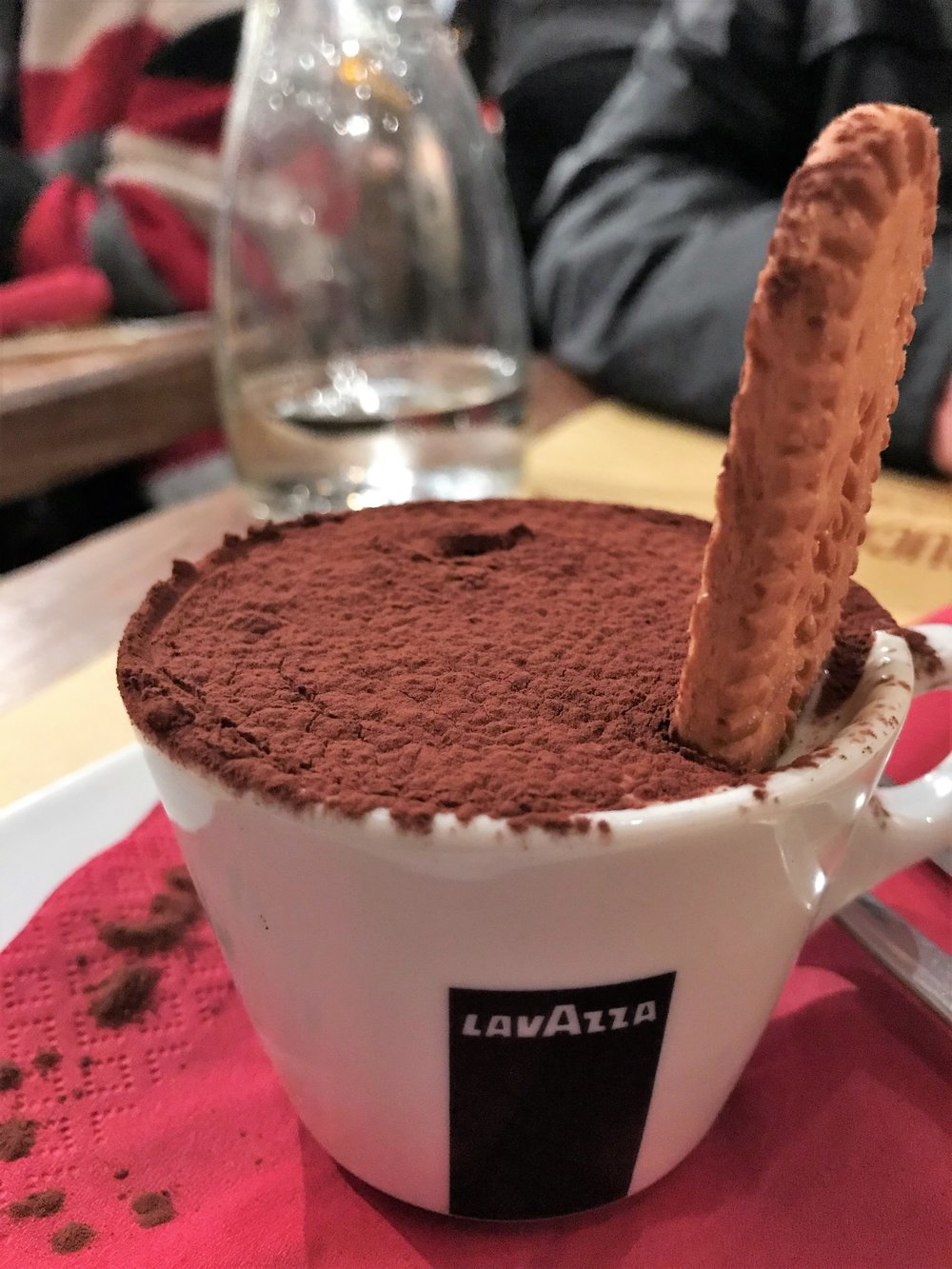 Tiramisu at Cantina e Cucina in Rome