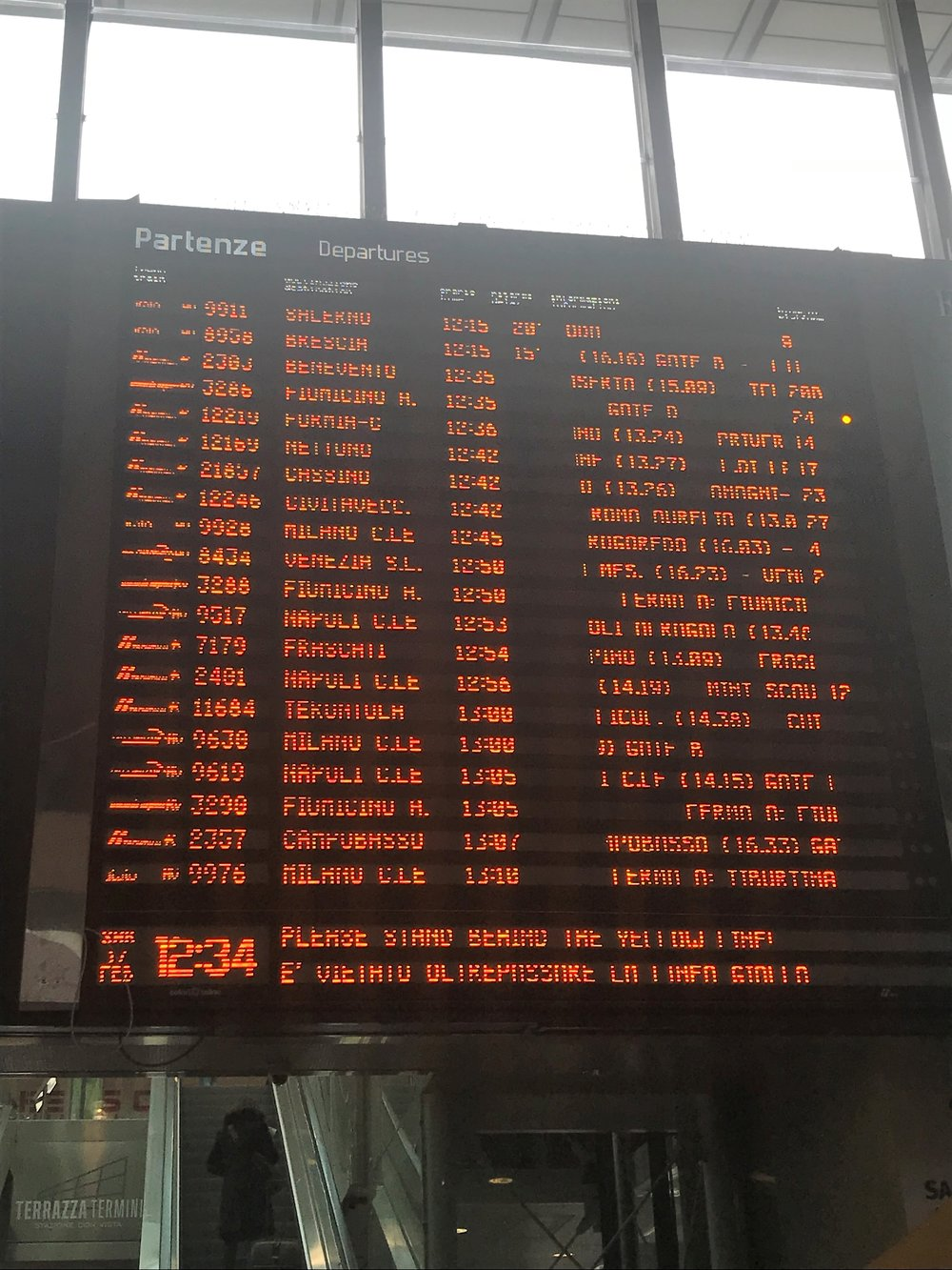 Train station destinations