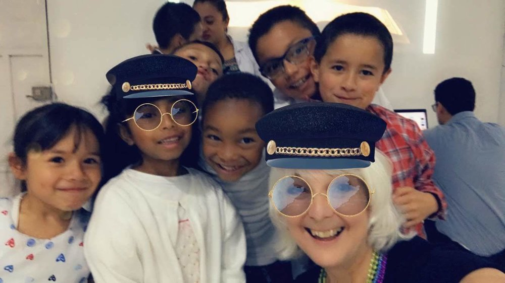 Playing with Snapchat filters at a Compassion project in Colombia