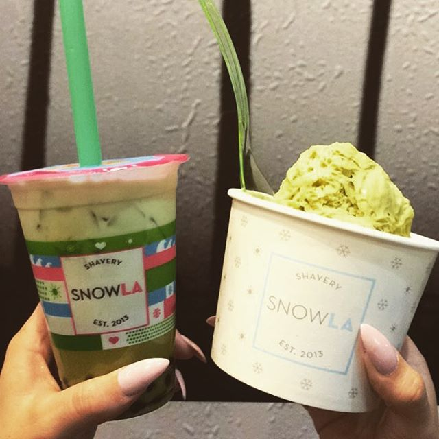 Matcha everything because it's St. Patrick's Day! 💚🍵☘️ Come by Snow!  We close at 12:00 a.m. • • • • • -Matcha milk tea ☘️ -Green tea snow ☘️ -Honeydew milk tea ☘️