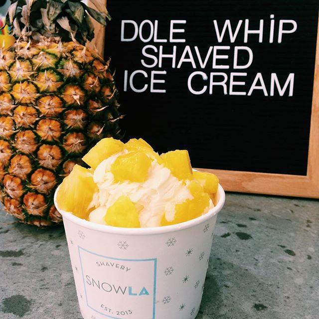 Bringing back our Dole Whipped shaved ice cream! Happy Sunday everyone!😋🍍✨