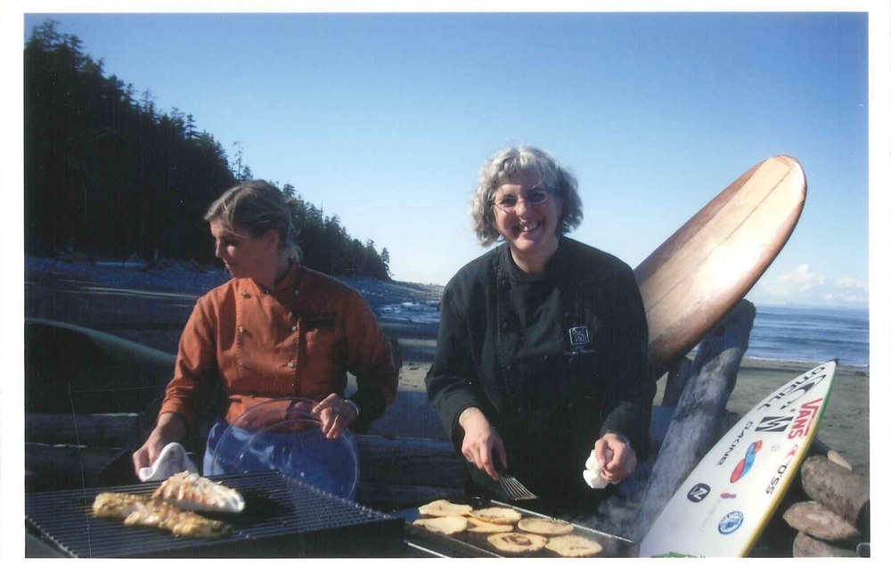 With Chef Mary Sue Milliken in Yakutat, AK filming a taco contest video.