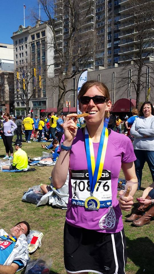 Any coincidence Crystal had her person best time at the Boston Marathon of 3:09:30 and her eating a Chef Stef's granola bar?. just sayin'.