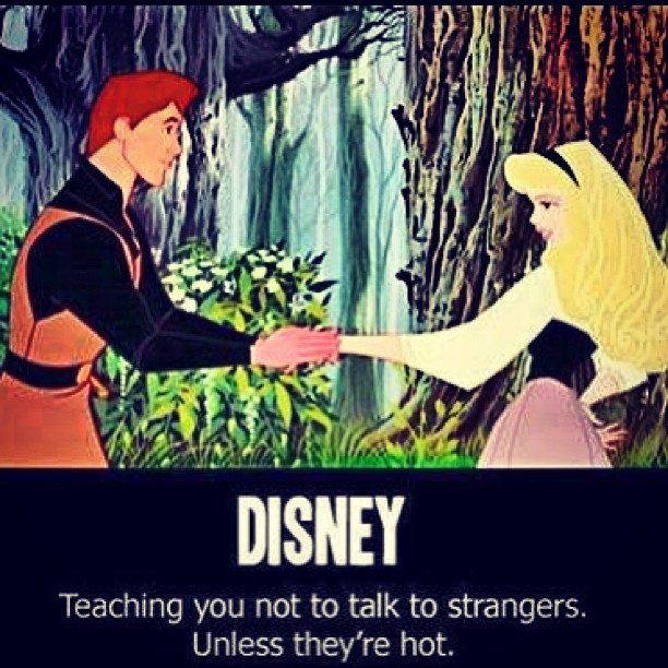 "#Disney #Stranger #Danger Please take due notice of the ""They're""."
