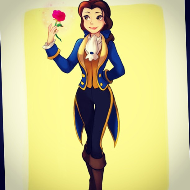 #Belle #beauty and the #beast #disney #love interest cross over.
