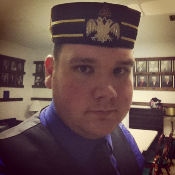 I am officially a #black #hat! 32nd Degree #ScottishRite #Freemason #Master of the #Royal #Secret.