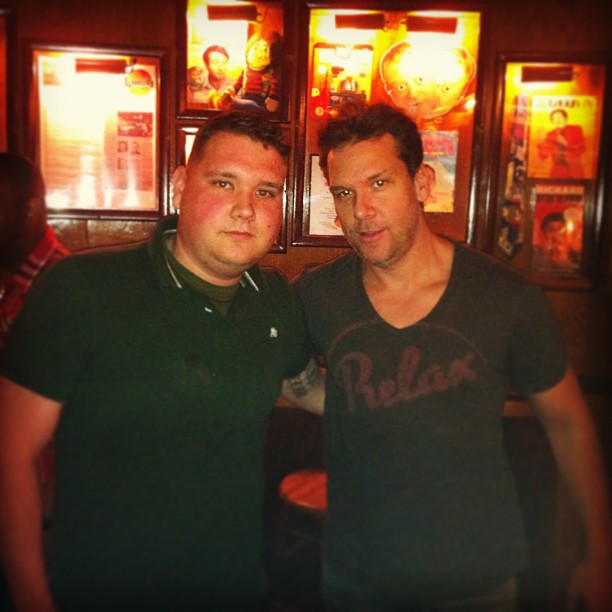 No big deal just me and my biggest idol an role model as a comedian @DaneCook #LaughFactory (at Laugh Factory)