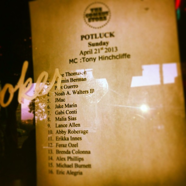 They misspelled my name but I don't even care I made the list!! #TheComedyStore (at The Comedy Store)