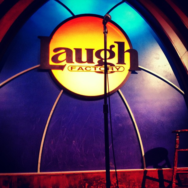 First time watching. Right after my first performance. (at Laugh Factory)