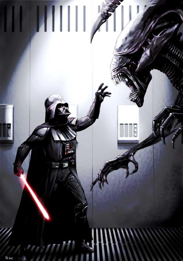 Lord Vader Against the Alien Queen