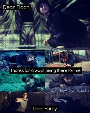 """that-harry-potter-blog: """"oh floor how I love thee"""""""