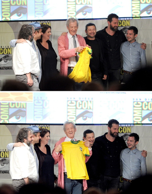 tHE HOBBIT CAST AT sdcc
