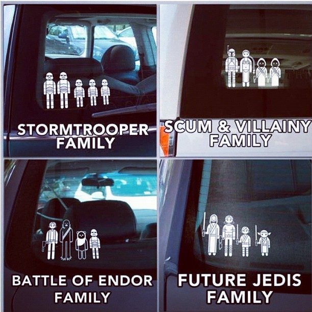 Awesome family car stickers ! (Taken with Instagram)