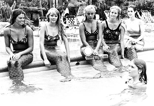 steamboat-willies: Disneyland mermaid auditions during the summer of 1966. (read more)
