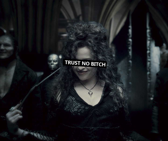 thetrustnobitch: never ever Trust a witchy Bitch.