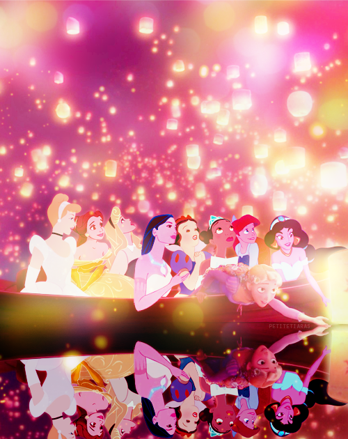 theguywholovesdisney: LOVE IT <3 petitetiaras: i was just thinking about how much fun they'd all have if they went on a boat with rapunzel. so, i photoshopped it. LOVE IT