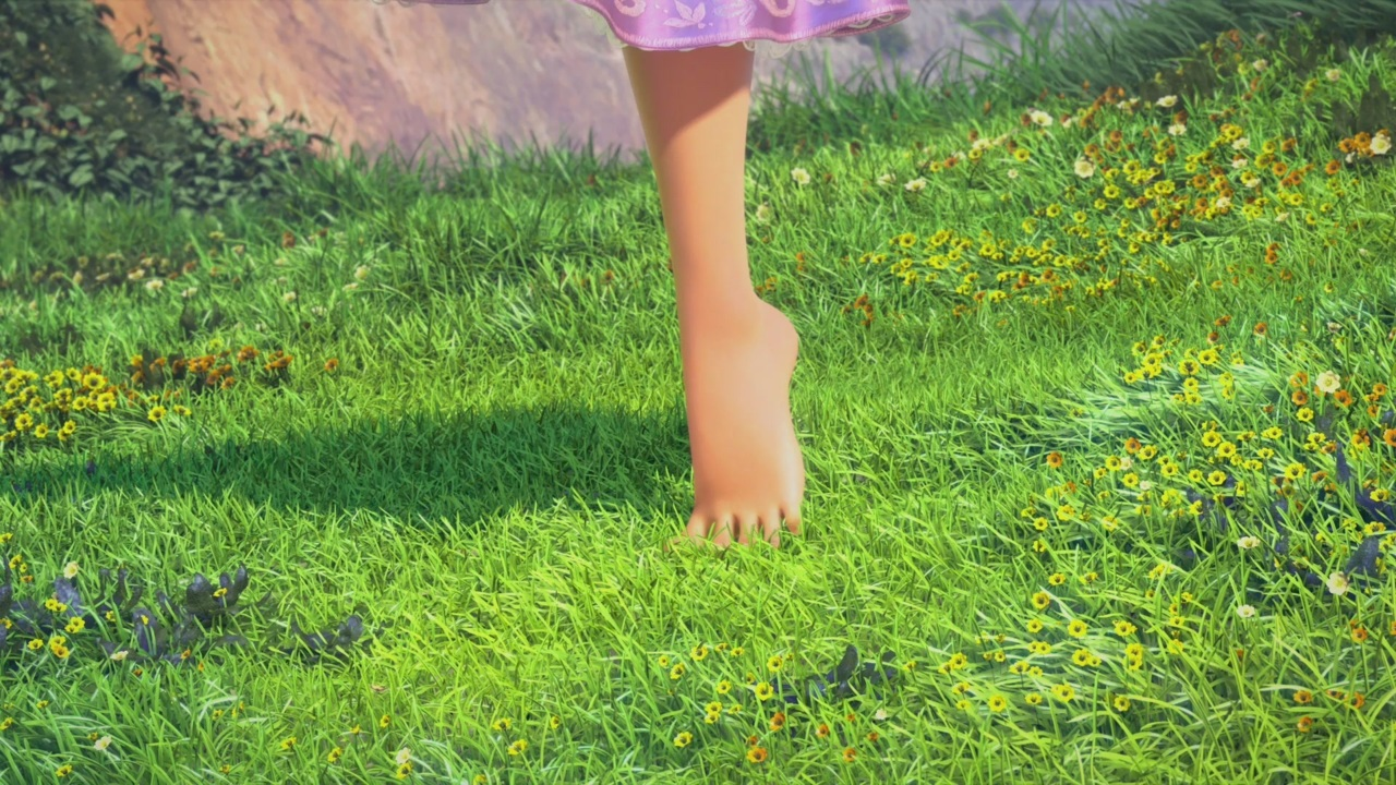 fuckyeahthedisneyclassics: One of the best feelings…bare feet on the grass in summer ♥