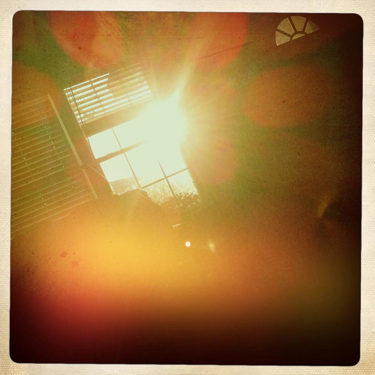 Good morning sunrise through my window 4 Buckhorst H1 Lens, Ina's 1969 Film, Dreampop Flash,
