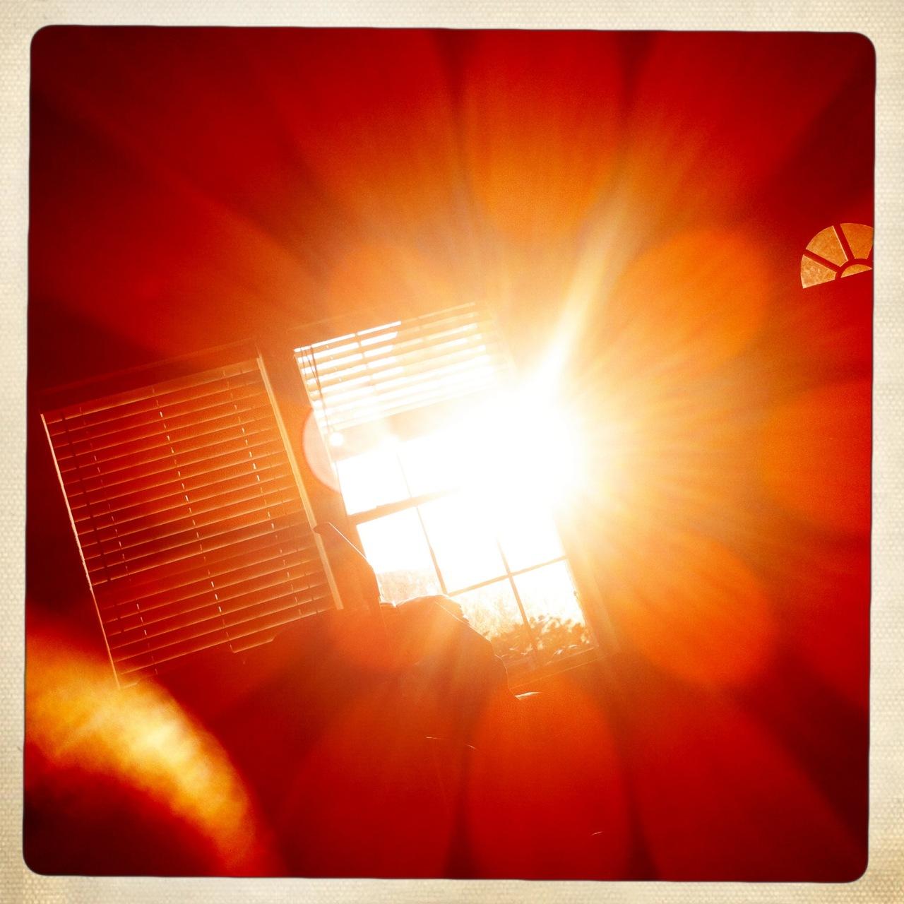 Good morning sunrise through my window 4 Kaimal Mark II Lens, Ina's 1969 Film, No Flash,