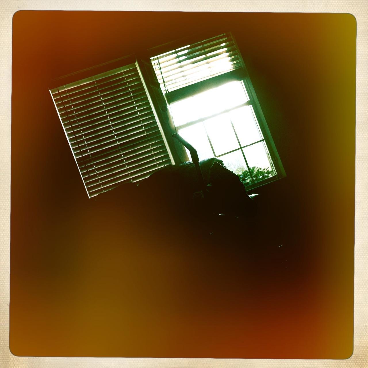 Sunrise through the window 2 John S Lens, Ina's 1969 Film, Cherry Shine Flash,