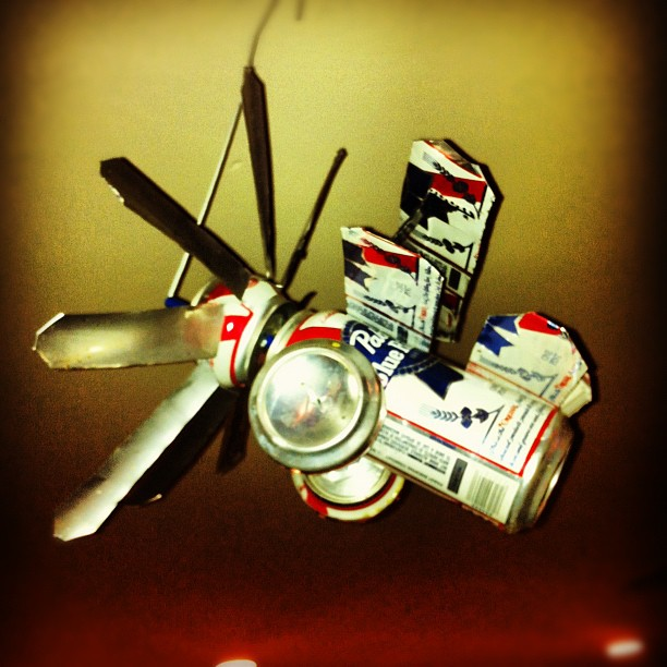 Plane made Of beer cans  (Taken with  instagram )