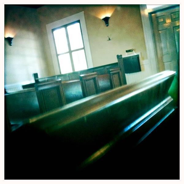 Church pews John S Lens, Blanko Film, No Flash, Taken with Hipstamatic