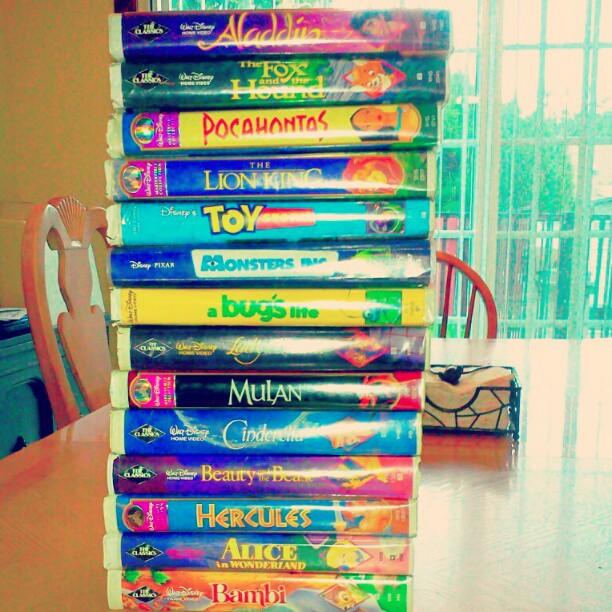 littlekiddnightmares: My childhood. :'D #DisneyHomeMovie #Disney (Taken with instagram) My childhood