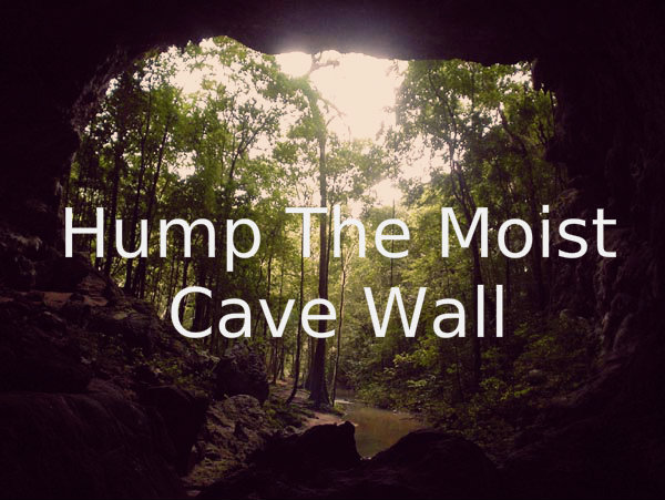 "ohhitherestranger :     ""Hump the moist cave wall."" -Hazel Grace"