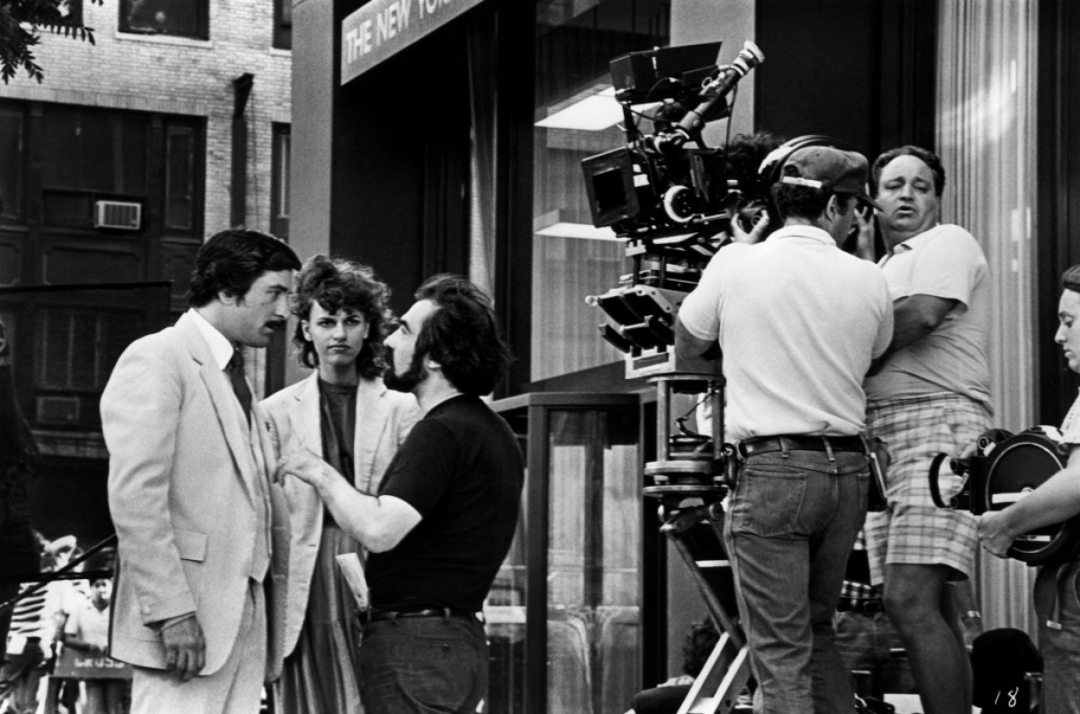 fuckyeahdirectors: Robert de Niro, Sandra Bernhard and Martin Scorsese on-set of The King of Comedy (1983)