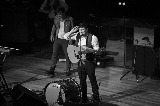 cauthenphoto: Mumford & Sons on Flickr. Via Flickr: Mumford & Sons performing at the historic Ryman Auditorium in Nashville, TN March 6th, 2012 Shot for American Songwriter Magazine