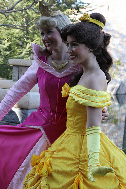 disneyforeverlives :      Aurora and Belle  by  fly away to neverland  on Flickr.      Aurora and Belle