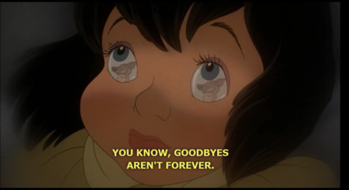 sweetbabytee: You Know, Goodbyes aren't forever…