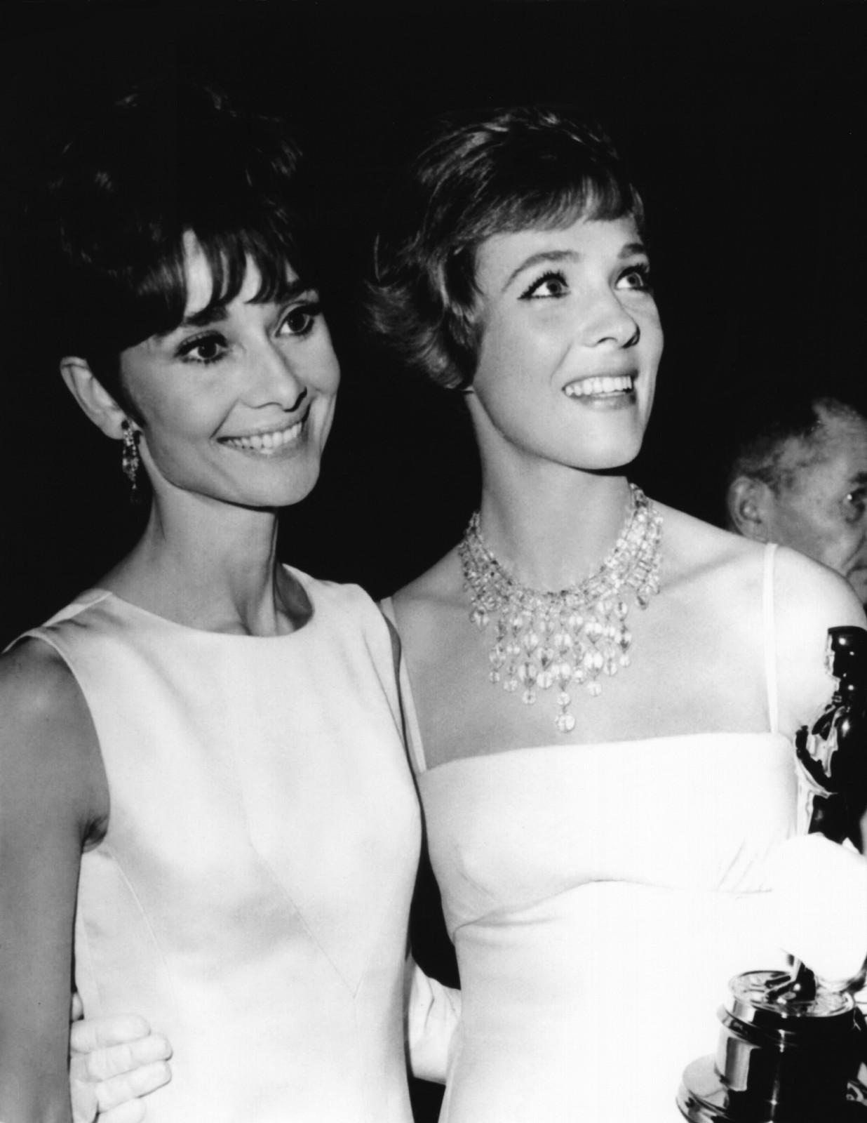 whenthereisfire: screengoddess: Audrey Hepburn & Julie Andrews1965 Julie Andrews is my God.