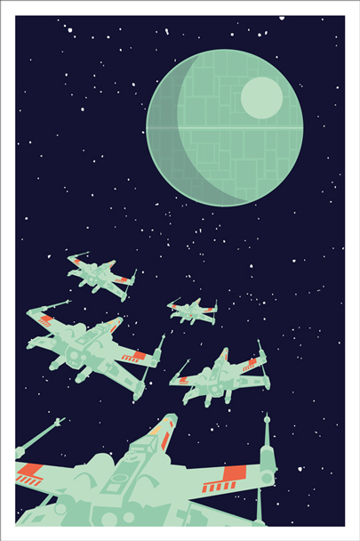 theartofstarwars :     Artwork by Andrew Heath as seen on  tiefighters