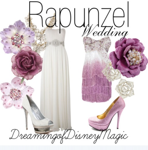New Rapunzel Wedding Gown Unveiled From Disney Fairy Tale Weddings By Alfred Angelo Rapunzel descends from her tower to don the newest fashionable wedding dress style to grace the runway at Bridal Fashion Week ShareThis Email PDF Print Disney Fairy Tale Weddings by Alfred Angelo Rapunzel Gown-runway show Michael Shettel, designer for Alfred Angelo, created a Rapunzel inspired bridal gown that reflects the character's confident, unconventional approach to style. Phila, PA/Glendale, CA (Vocus/PRWEB) April 13, 2011 Disney Fairy Tale Weddings by Alfred Angelo will unveil the exciting new Rapunzel wedding gown to press at its upcoming annual bridal fashion show on Friday April 8, 2011 at EZ studios in New York. Rapunzel's gown is the latest addition to the celebrated Disney Fairy Tale Weddings by Alfred Angelo collection of seven Disney Princess-inspired wedding gowns that launched earlier this year. Following the box office success and upcoming DVD release of the movie, Tangled, Rapunzel is becoming her own classic Disney character loved by fans around the world. As a result, Michael Shettel, designer for Alfred Angelo, created a Rapunzel inspired bridal gown that reflects the character's confident, unconventional approach to style. The gown's one shoulder dropped waist, pleated bodice represents the unique, artistic vision that Rapunzel brides bring to everything they do. The delicate three-dimensional satin petals on the skirt pay homage to the natural things Rapunzel longs for, and expresses through her artistry. These petals are adorned with light-catching crystals and twinkling sequins to represent the lanterns she views every year on her birthday from her tower. Also gracing the runway at the press preview on April 8, is the new Cinderella Platinum wedding gown. The gown, which was presented at a special Walt Disney World® Resort event last month, was created to commemorate the 20th (Platinum) Anniversary of Disney's Fairy Tale Weddings and Honeymoons in Orlando, 