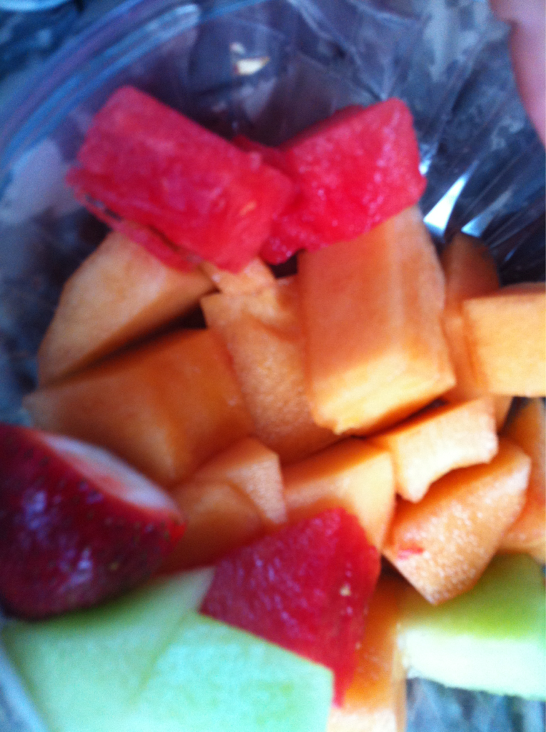 Fruit!!!!! Wish I had yogurt