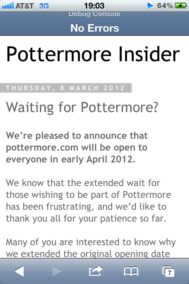 Pottermore reopens for the public in April!!!! Yay my beta account messed up a longtime ago I'm ready to get a new one!!!!!