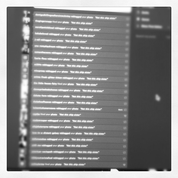 "90 re blogs in under an hour ""like a boss""  (Taken with  instagram )"