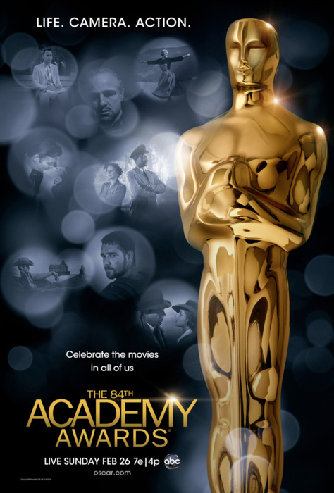 """here ya go!!!! 84th Annual Academy Awards Nominations Best Picture """"The Artist"""" """"The Descendants"""" """"Extremely Loud and Incredibly Close"""" """"The Help"""" """"Hugo"""" """"Midnight In Paris"""" """"Moneyball"""" """"The Tree of Life"""" """"War Horse"""" Best Director Michel Hazanavicius - """"The Artist"""" Alexander Payne - """"The Descendants"""" Martin Scorsese - """"Hugo"""" Woody Allen - """"Midnight In Paris"""" Terrence Malick - """"The Tree Of Life"""" Best Actor Demian Bichir - """"A Better Life"""" Jean Dujardin - """"The Artist"""" George Clooney - """"The Descendants"""" Brad Pitt - """"Moneyball"""" Gary Oldman - """"Tinker Tailor Soldier Spy"""" Best Actress Glenn Close - """"Albert Nobbs"""" Viola Davis - """"The Help"""" Rooney Mara - """"The Girl With The Dragon Tattoo"""" Meryl Streep - """"The Iron Lady"""" Michelle Williams - """"My Week With Marilyn"""" Best Supporting Actor Kenneth Branagh - """"My Week With Marilyn"""" Jonah Hill - """"Moneyball"""" Nick Nolte - """"Warrior"""" Christopher Plummer - """"Beginners"""" Max Von Sydow - """"Extremely Loud and Incredibly Close"""" Best Supporting Actress Berenice Bejo - """"The Artist"""" Jessica Chastain - """"The Help"""" Melissa McCarthy - """"Bridesmaids"""" Janet McTeer - """"Albert Nobbs"""" Octavia Spencer - """"The Help"""" Best Original Screenplay Michel Hazanavicius - """"The Artist"""" Kristin Wiig & Annie Mumulo - """"Bridesmaids"""" J.C. Chandor - """"Margin Call"""" Woody Allen - """"Midnight in Paris"""" Asghar Farhadi - """"A Separation"""" Best Adapted Screenplay Jim Rash, Nat Faxon, Alexander Payne - """"The Descendants"""" John Logan - """"Hugo"""" George Clooney, Grant Heslov, Beau Willimon - """"The Ides Of March"""" Steve Zaillian & Aaron Sorkin - """"Moneyball"""" Peter Straughan & Bridget O'Connor - """"Tinker Tailor Soldier Spy"""" Best Foreign Language Film """"A Separation"""" """"Bullhead"""" """"Footnote"""" """"In Darkness"""" """"Monsieur Lazhar"""" Best Animation """"A Cat In Paris"""" """"Chico & Rita"""" """"Kung Fu Panda 2"""" """"Puss In Boots"""" """"Rango"""" Best Documentary """"Hell And Back Again"""" """"If A Tree Falls; A Story Of The Earth Liberation Front"""" """"Paradise Lost 3: Purgatory"""" """"Pina"""" """"Undefeated"""" Best Cinematography Guillaume Shiffman - """"The Artist"""" Jeff Cr"""