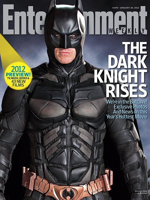 totalfilm: New image of The Dark Knight Rises' batsuit We haven't had any updates from The Dark Knight Rises in a little while, but prepare to get excited all over again, as Entertainment Weekly have a new image of the batsuit slapped across the cover of their latest issue.