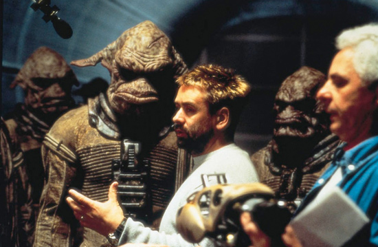 cinemastatic: Luc Besson on the set of The Fifth Element