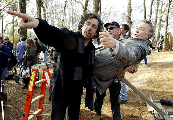 cinyma: Tim Burton directing Albert Finney (Big Fish 2003)