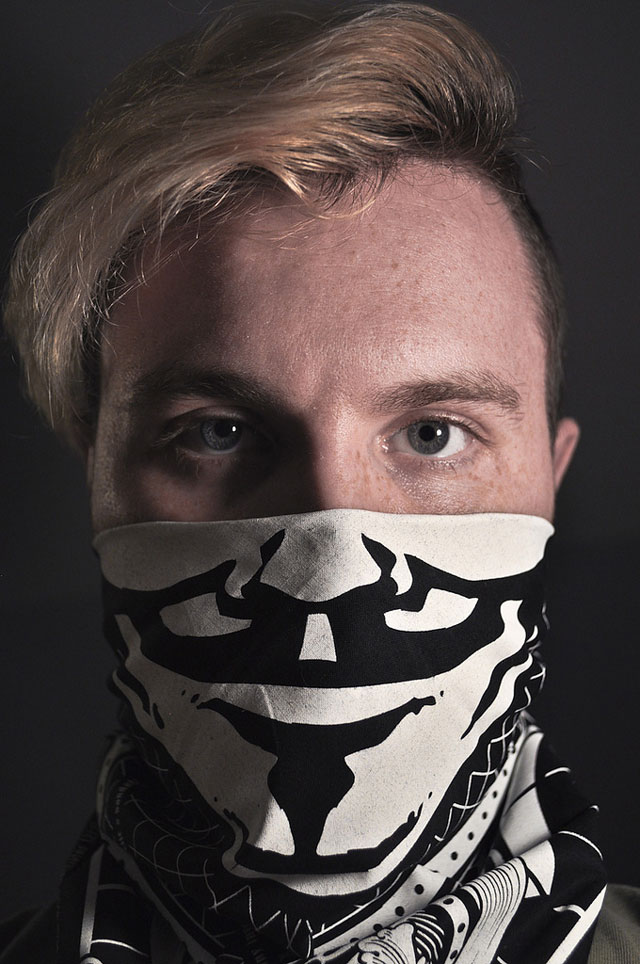 laughingsquid: Guy Fawkes Bandana for Occupy Protestors