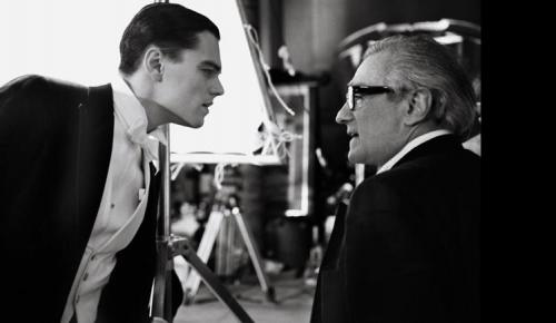 raychuhl: Leonardo Dicaprio and Martin Scorsese on the set of The Aviator  Photographed by Brigitte Lacombe