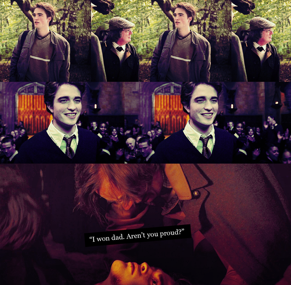 what  Cedric Diggory should have said to Amos Diggory -http://boss0501.tumblr.com/